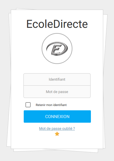https://www.ecoledirecte.com/login